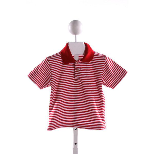 LUIGI  RED  STRIPED  KNIT SS SHIRT