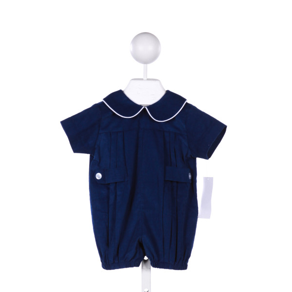 LULLABY SET BLUE CORDUROY BUBBLE WITH WHITE PIPING