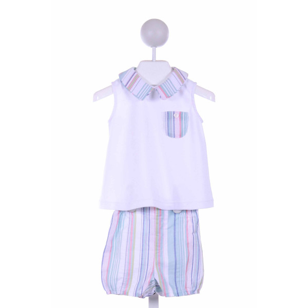 DONDOLO  MINT  STRIPED  2-PIECE OUTFIT WITH BUBBLE HEM
