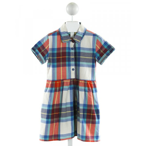 JOHNNIE-B  IVORY  PLAID  DRESS