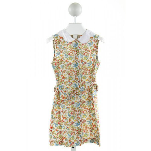 BEST & CO.  OFF-WHITE  FLORAL  DRESS