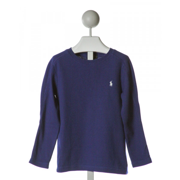 POLO BY RALPH LAUREN  ROYAL BLUE    CLOTH LS SHIRT
