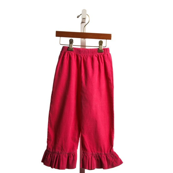 BEEHAVE HOT PINK CORD RUFFLE PANTS