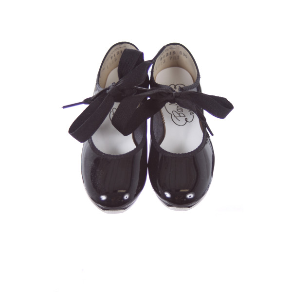 BARBETTE'S BLACK PATENT LEATHER TAP SHOES TODDLER SIZE 9