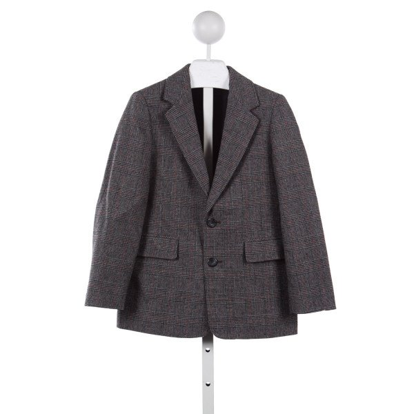 TALBOTS CHARCOAL GRAY PLAID WOOL JACKET