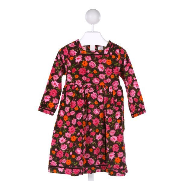 COTTON KIDS  MULTI-COLOR COTTON FLORAL  DRESS