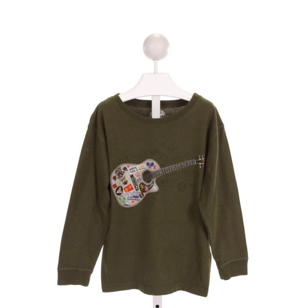 WES AND WILLY  FOREST GREEN   PRINTED DESIGN KNIT LS SHIRT