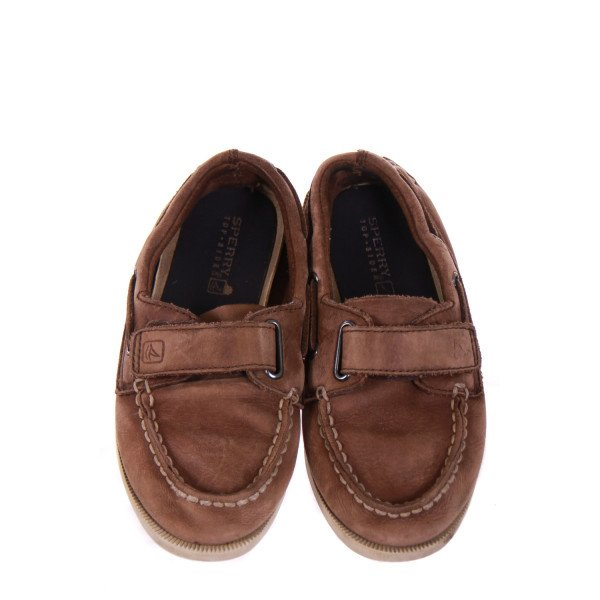 SPERRY BROWN VELCRO BOAT SHOES *SIZE 11.5 *GUC