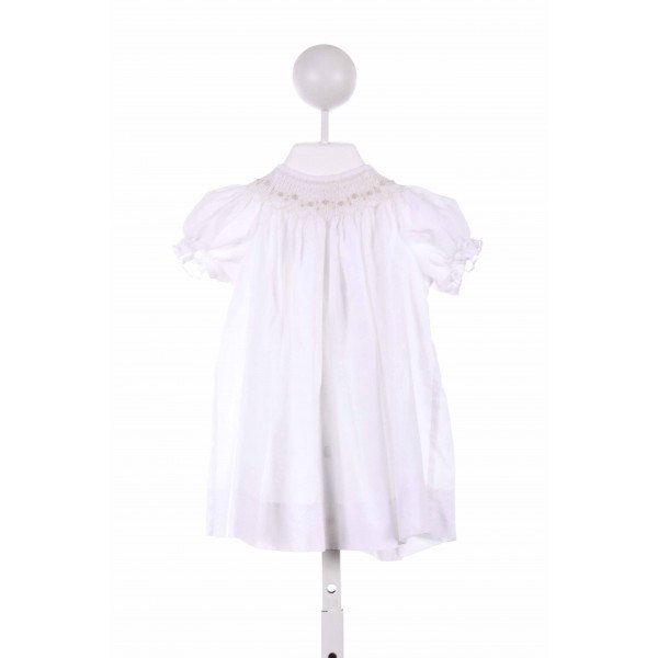BOW PEEP  WHITE   SMOCKED CASUAL DRESS