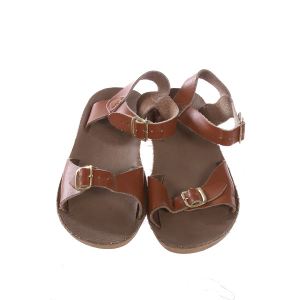 BROWN SUN SANS/ SALTWATER SANDALS *SIZE 13, GUC - SOLE DISCOLORATION AND SCUFFING