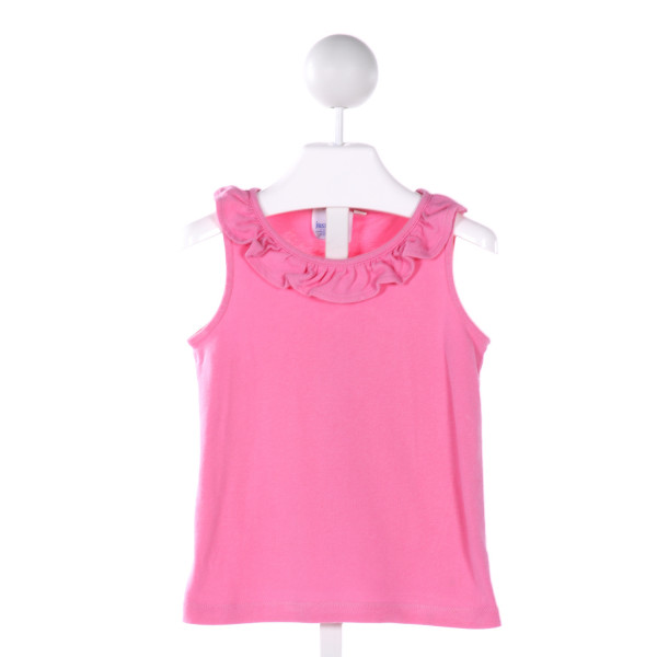 JUST DUCKY  PINK    KNIT SS SHIRT WITH RUFFLE
