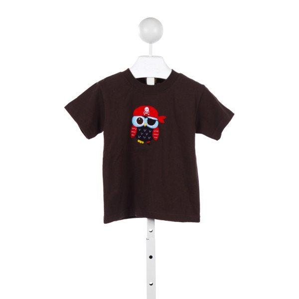 LUIGI BROWN KNIT PIRATE OWL TOP