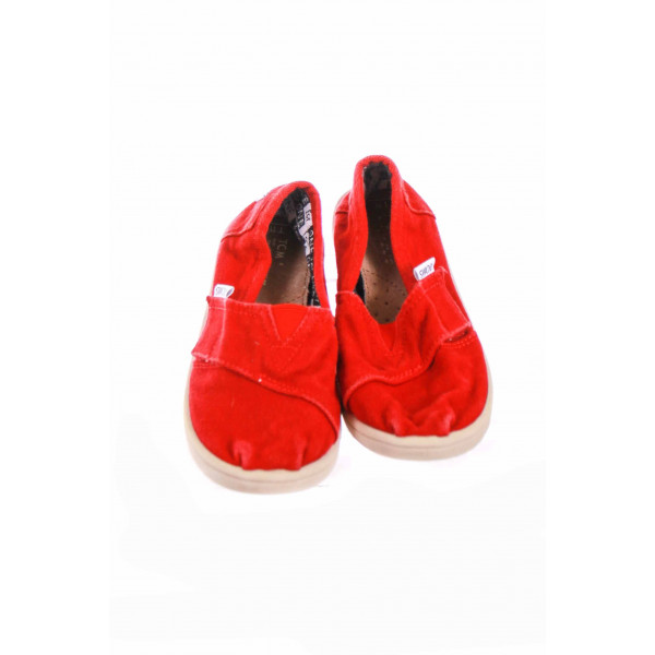 RED TOMS WITH VELCRO STRAP SIZE 11 *GUC