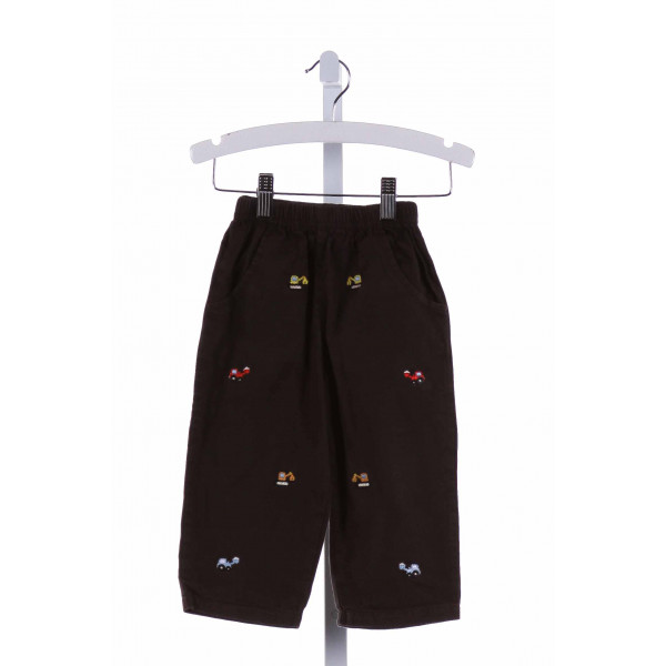 LUIGI  BROWN   EMBROIDERED PANTS