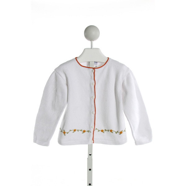 ORIENT EXPRESSED  WHITE   EMBROIDERED SWEATER
