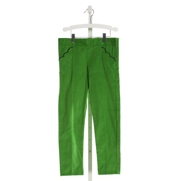 BELLA BLISS  GREEN CORDUROY  EMBROIDERED PANTS