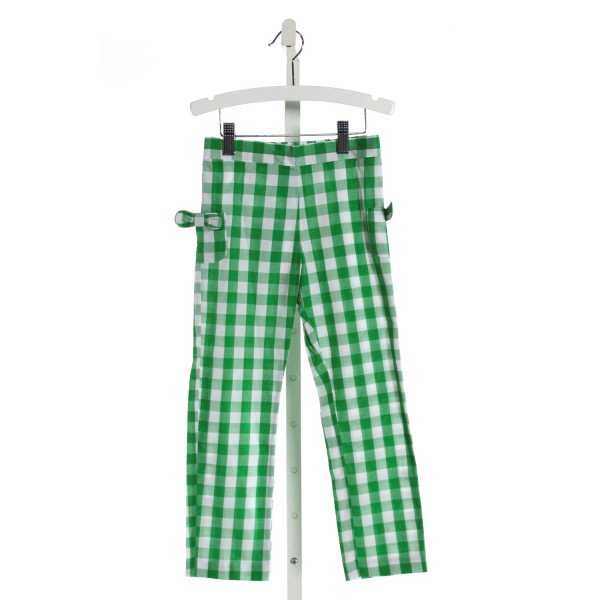 BELLA BLISS  GREEN  GINGHAM  PANTS