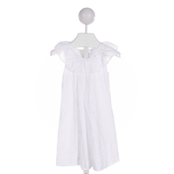 FANTAISIE KIDS  WHITE   EMBROIDERED DRESS WITH RUFFLE