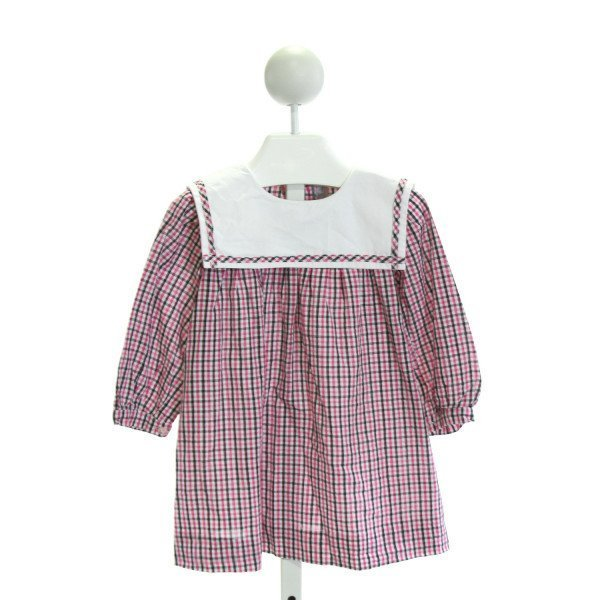 FANTAISIE KIDS  PINK  PLAID  CLOTH LS SHIRT