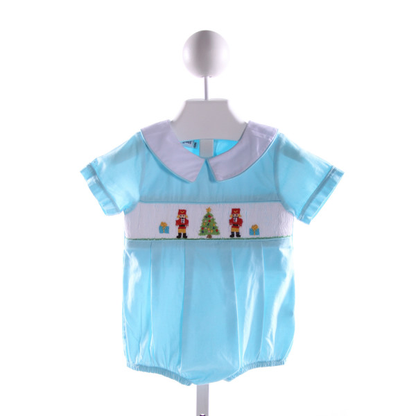 SMOCKINGBIRD  AQUA   SMOCKED BUBBLE