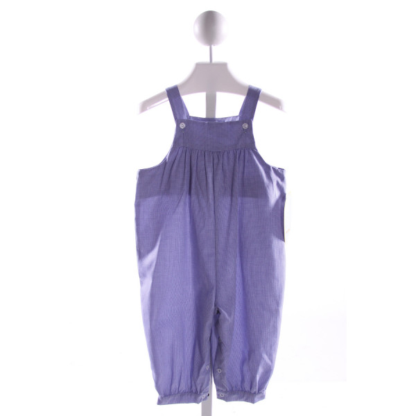 LITTLE ENGLISH  BLUE  MICROCHECK  LONGALL/ROMPER