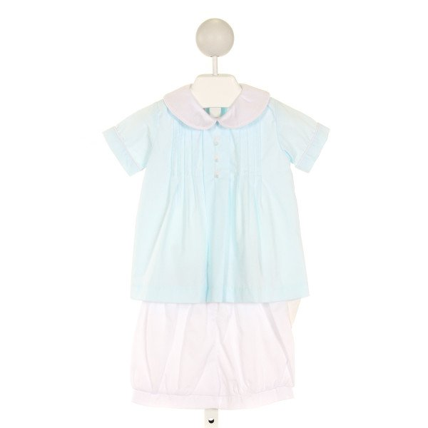SHRIMP & GRITS  AQUA   EMBROIDERED 2-PIECE OUTFIT