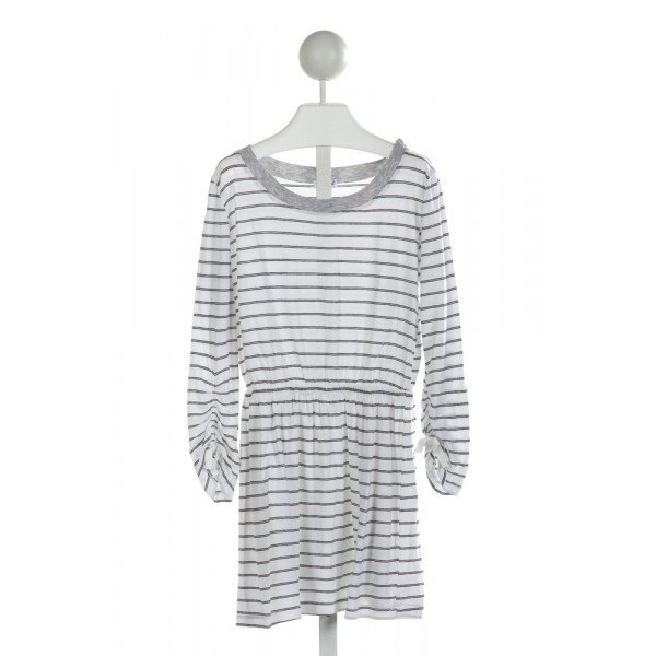 SPLENDID  OFF-WHITE  STRIPED  KNIT DRESS
