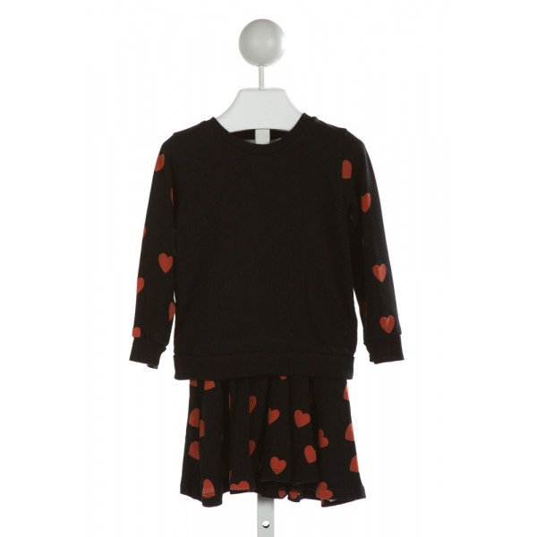 MINI RODINI  BLACK   PRINTED DESIGN 2-PIECE OUTFIT
