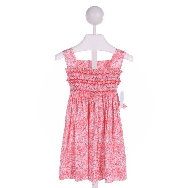 LULI & ME  PINK  FLORAL SMOCKED DRESS