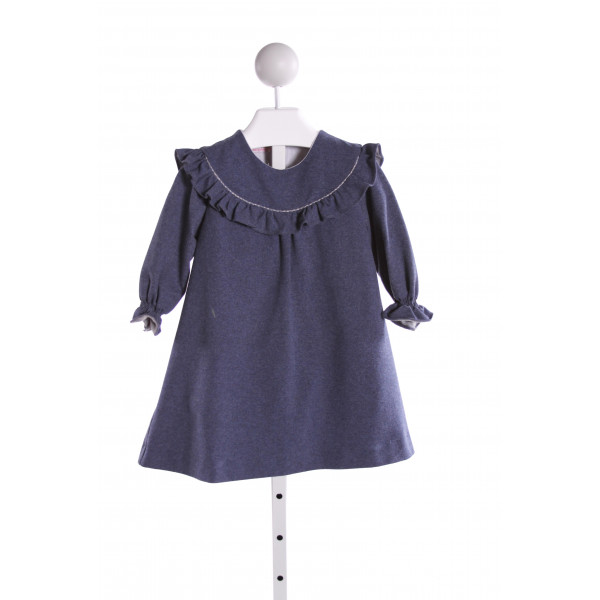 LA COQUETA  BLUE    DRESS WITH RUFFLE
