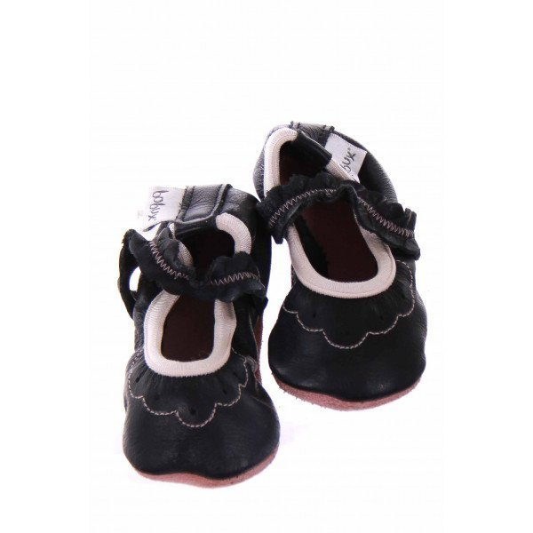 BOBUX BLACK MARY JANE SOFT-SOLE MOCCASINS *SIZE 2 (SIZE SMALL 3-9MO.) *NWT
