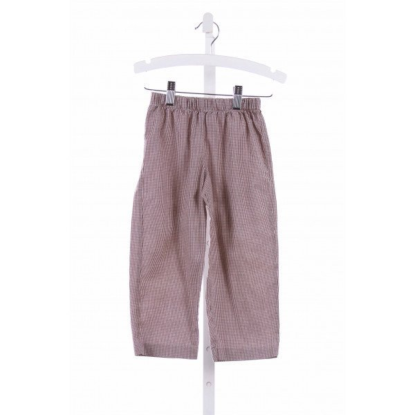 COTTON BLU  BROWN  GINGHAM  PANTS