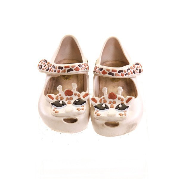 MINI MELISSA IVORY GIRAFFE SHOES *SIZE 6, VGU - SLIGHT DISCOLORATION