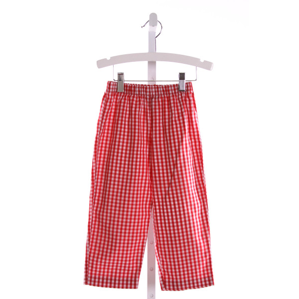 COTTON BLU  RED  GINGHAM  PANTS