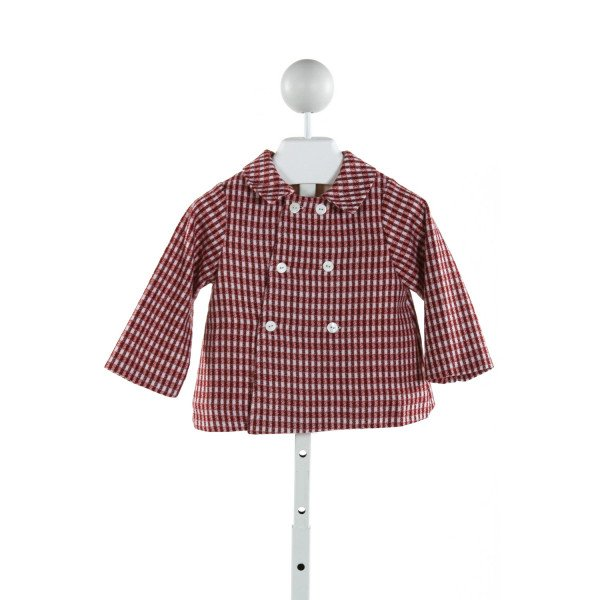 FANTAISIE KIDS  RED  PLAID  OUTERWEAR