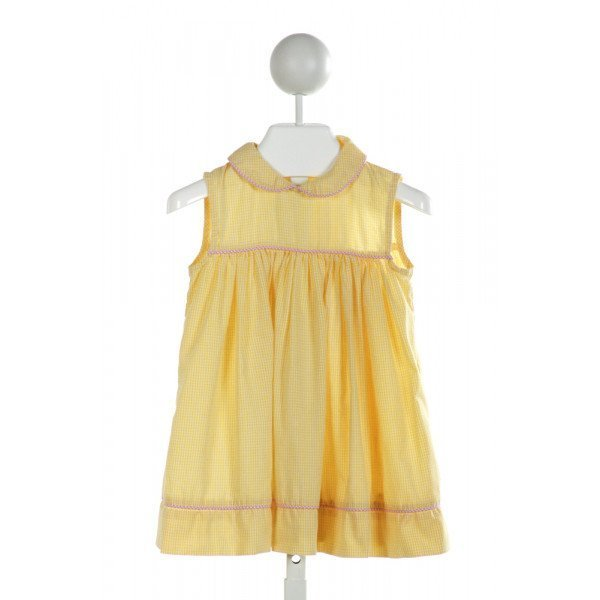 PRECIOUS ONE  YELLOW  GINGHAM  DRESS