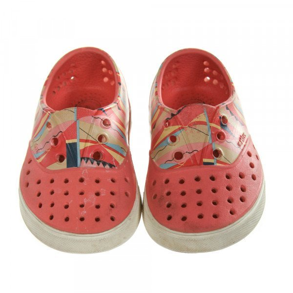 NATIVE PINK SHOES *SIZE TODDLER 6, GUC - DISCOLORATION AND WEAR