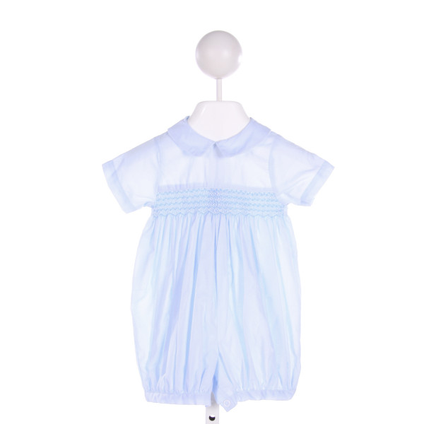 SOPHIE DESS  LT BLUE   SMOCKED BUBBLE