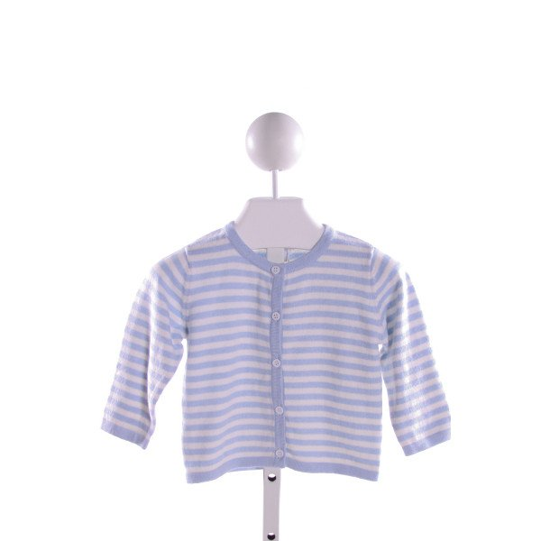 BAMBEENO  LT BLUE  STRIPED  CARDIGAN