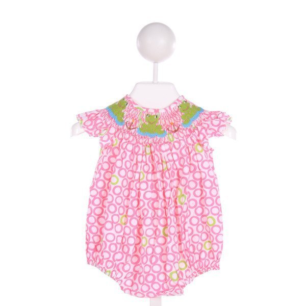 STITCHY FISH  PINK   SMOCKED BUBBLE WITH RUFFLE