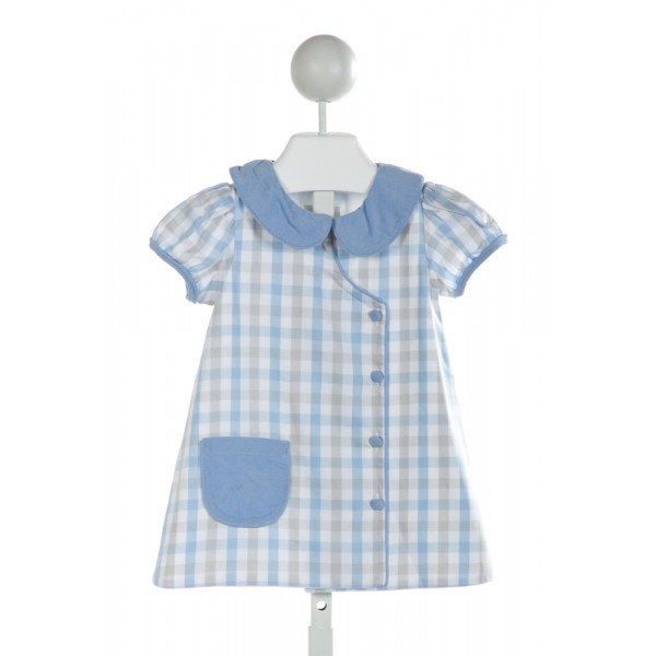SHRIMP & GRITS  LT BLUE  PLAID  DRESS