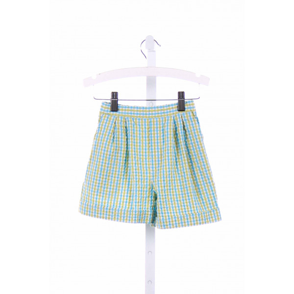 CHEZ AMI  BLUE SEERSUCKER GINGHAM  SHORTS