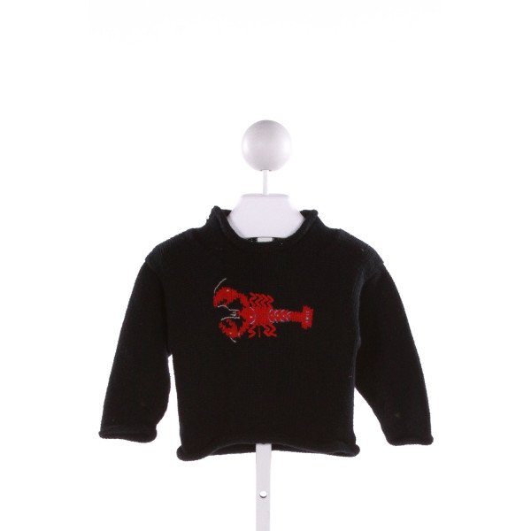 CLAVER  BLACK   EMBROIDERED SWEATER
