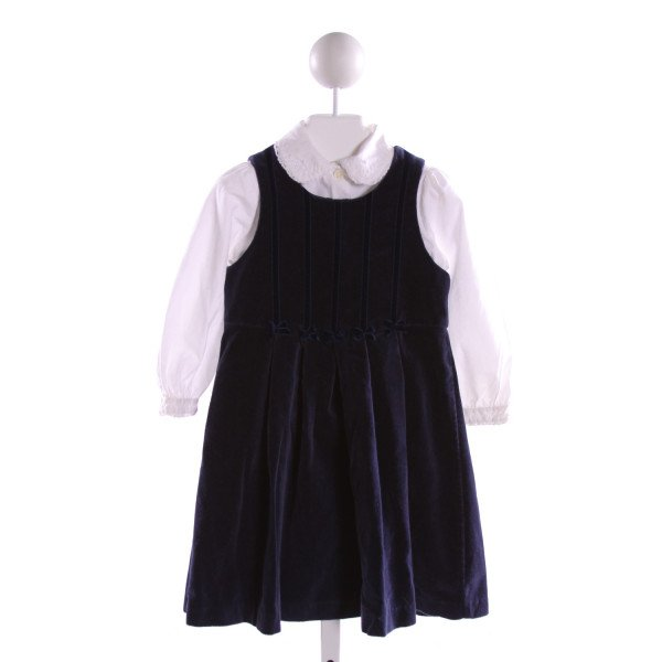 LAURA ASHLEY  NAVY    DRESS