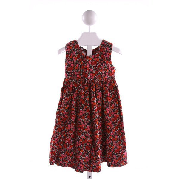 STRASBURG  MULTI-COLOR CORDUROY FLORAL  DRESS