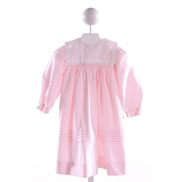 PEACHES 'N CREAM  LT PINK   EMBROIDERED DRESS