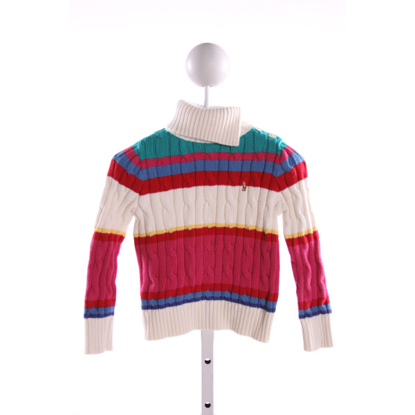 RALPH LAUREN  MULTI-COLOR  STRIPED  SWEATER