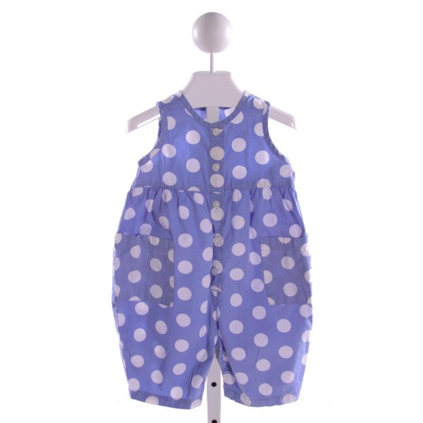 LANDS' END KIDS  LT BLUE  POLKA DOT  ROMPER