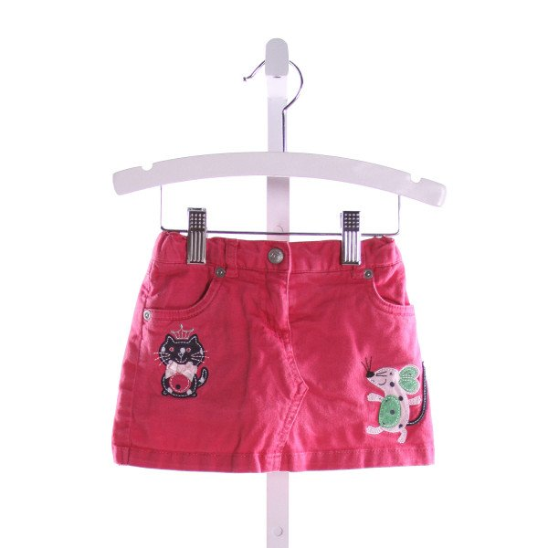 TALBOTS  HOT PINK   EMBROIDERED SKORT