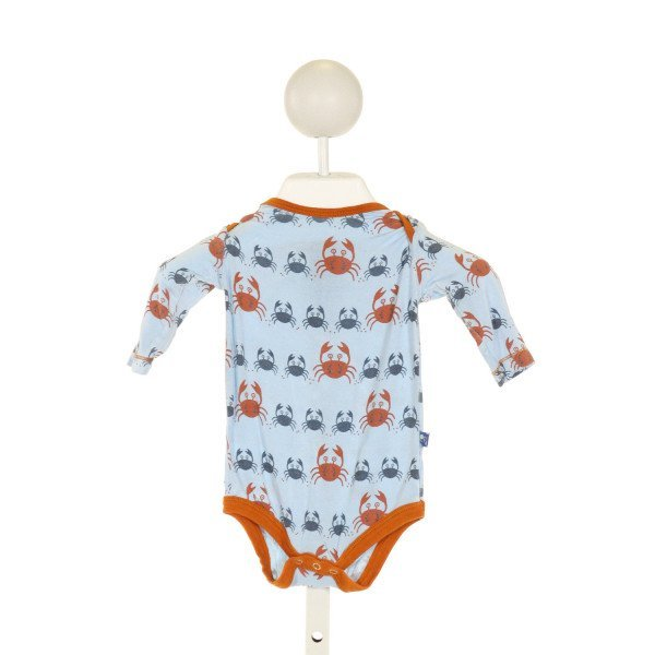 KICKEE PANTS  LT BLUE   PRINTED DESIGN LAYETTE